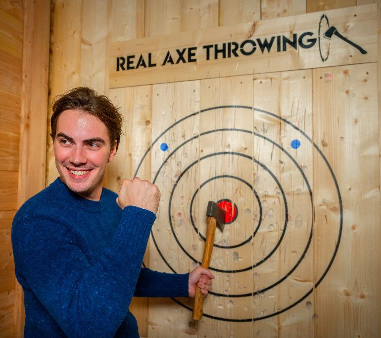 Real Axe Throwing Target